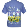 Southern Attitude What Time Goats Sunflower T-Shirt