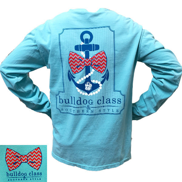 Georgia bulldogs southern class anchor comfort colors for Mint color t shirt