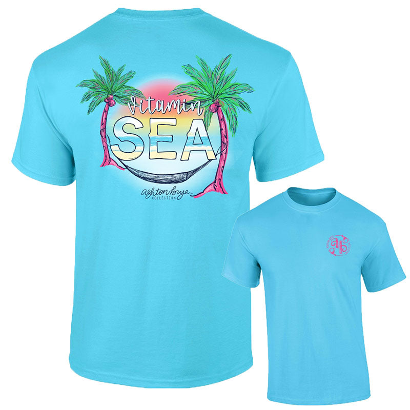 Southernology Ashton Brye Vitamin Sea Beach Comfort Colors T-Shirt
