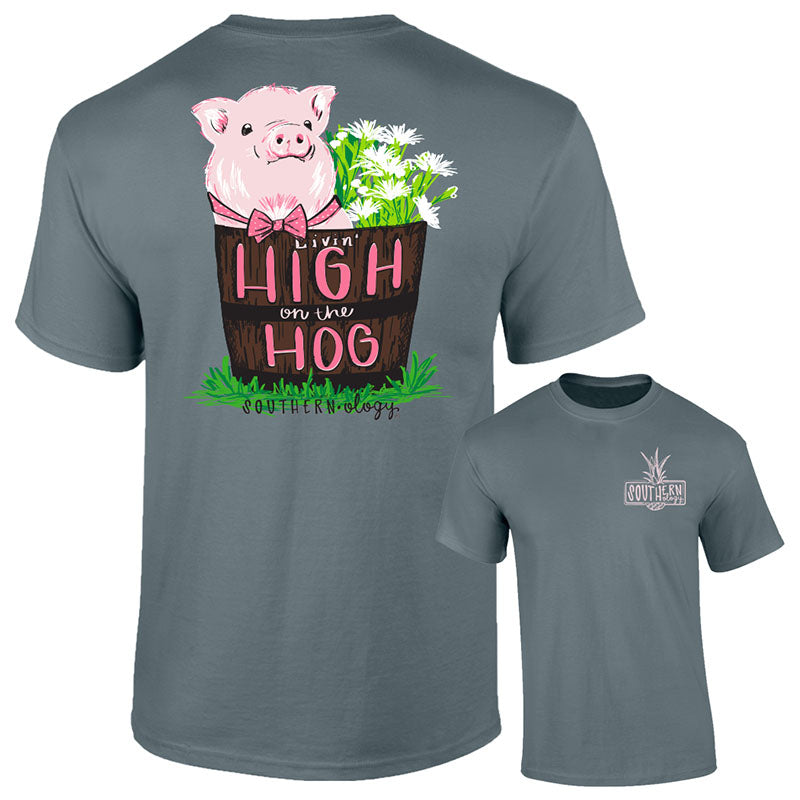 Southernology High On The Hog Pig Comfort Colors T-Shirt