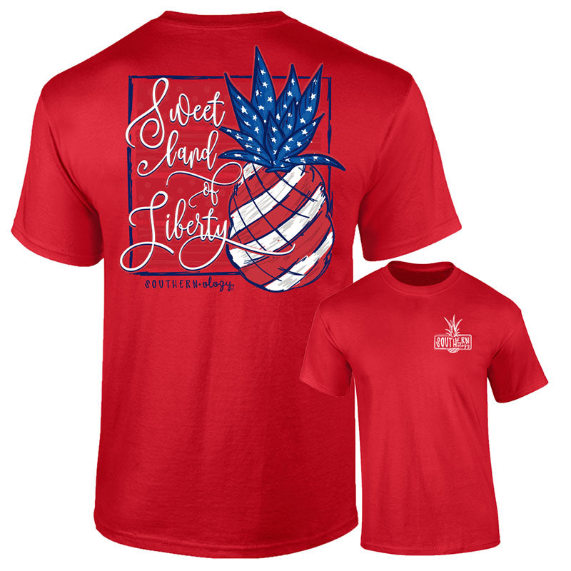 Southernology Liberty USA Pineapple Comfort Colors T-Shirt