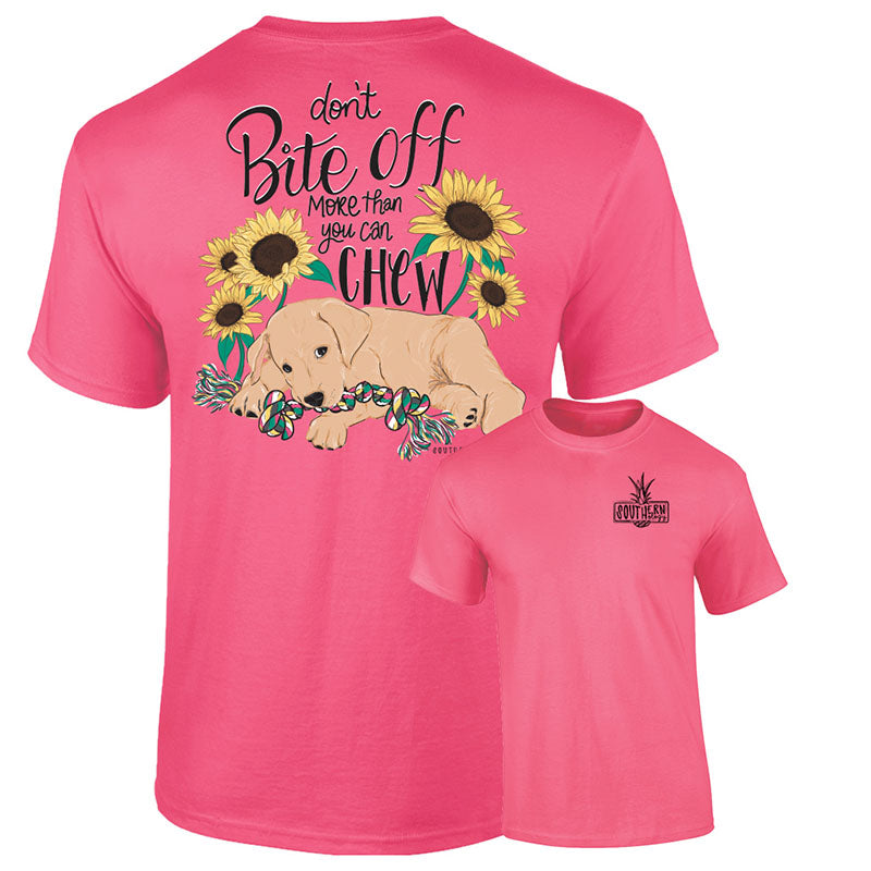 Southernology Don't Bite Off Dog Sunflower Comfort Colors T-Shirt