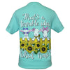 Southern Attitude What Time Goats Sunflower Seafoam T-Shirt