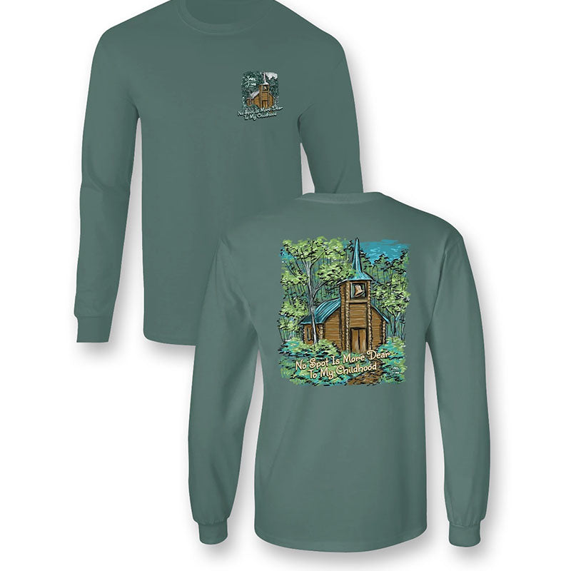 Sassy Frass Little Brown Church Comfort Colors Long Sleeve T-Shirt