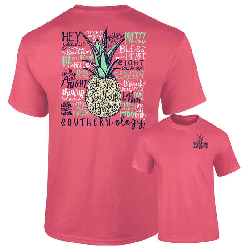 Southernology Talk Southern to Me Pineapple Comfort Colors T-Shirt