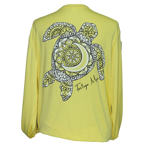 Southern Attitude Tortuga Moon Turtle Unisex Sport Tech Yellow T-Shirt