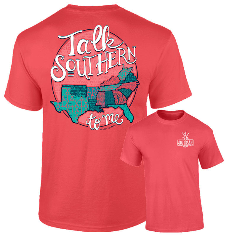 Southernology Talk Southern State Abbreviation Comfort Colors T-Shirt
