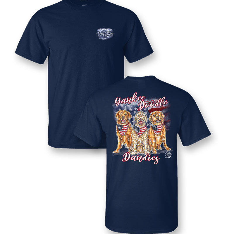 Sassy Frass Yankee Doodle Dandies Dogs USA T-Shirt