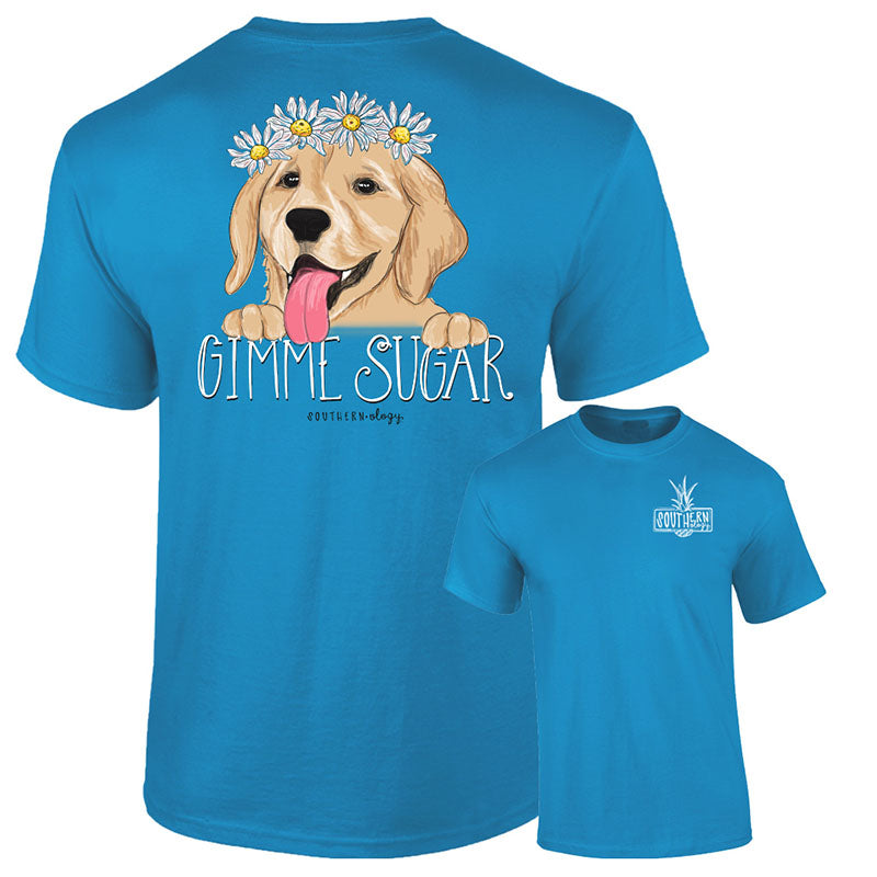 Southernology Gimme Sugar Puppy Dog Comfort Colors T-Shirt