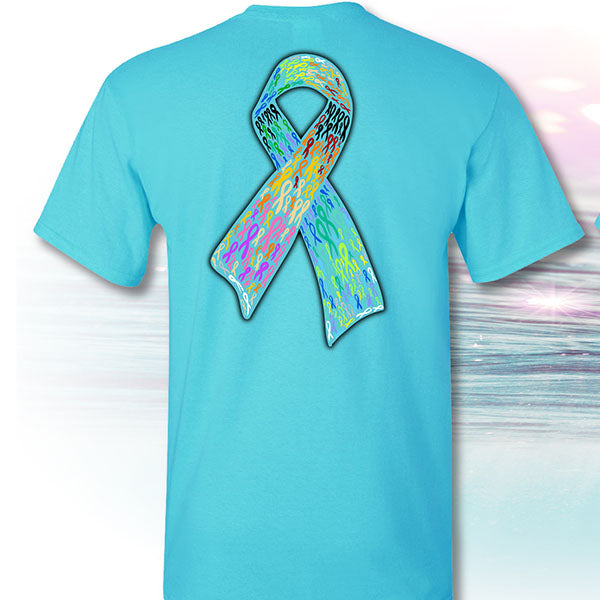 I Fought Today Classic Logo Cancer Ribbons T-Shirt