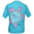 Southern Attitude Tortuga Moon Palm Turtle Comfort Colors T-Shirt