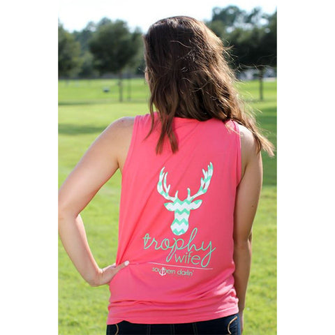Southern Darlin Comfort Color Trophy Wife Bright Girlie T-Shirt Tank Top