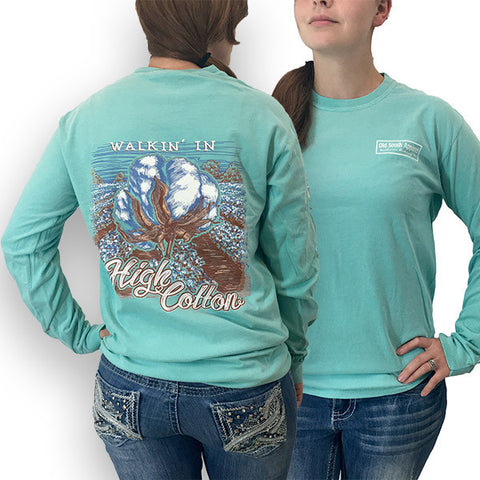 Old South Walkin High Cotton Comfort Colors Long Sleeve Unisex T-Shirt - SimplyCuteTees