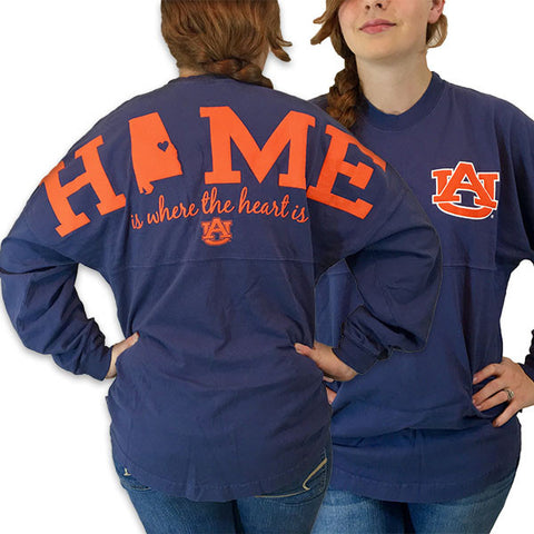 Auburn Tigers War Eagle Women's Home Spirit Jersey Long Sleeve Oversized Top Shirt