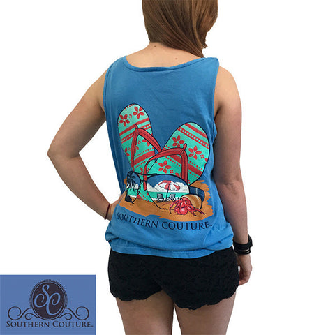 Southern Couture Comfort Colors Beach Sunglasses Flip Flop Tank Top