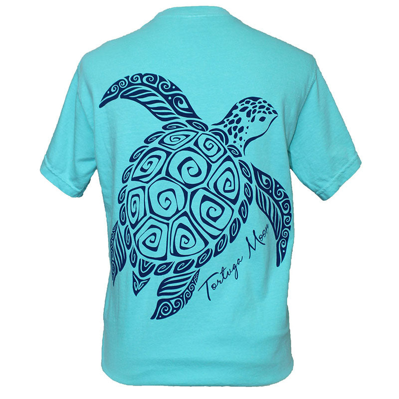 Southern Attitude Tortuga Moon Tribal Turtle Comfort Colors T-Shirt
