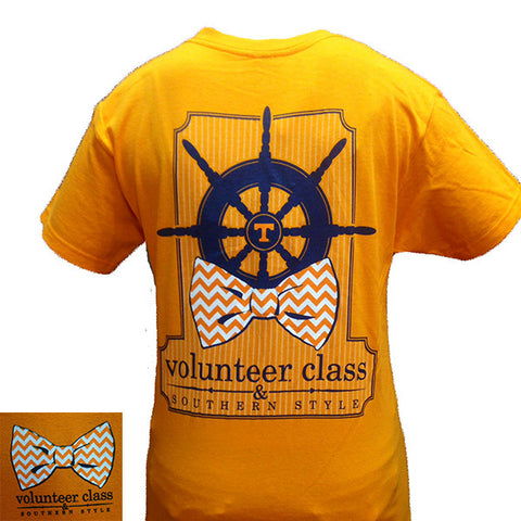 SALE Tennessee Vols Volunteer Class Southern Style Bow Girlie Bright T Shirt