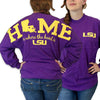 Louisiana LSU Tigers Women's Home Spirit Jersey Long Sleeve Oversized Top Shirt - SimplyCuteTees