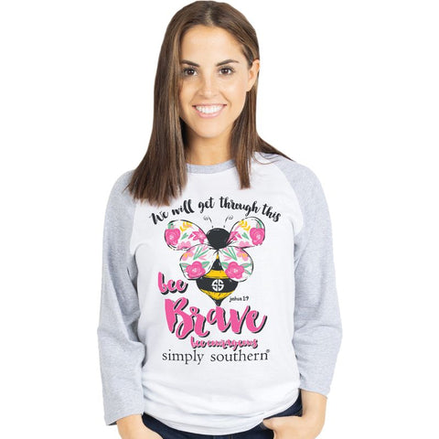 Simply Southern COVID-19 Collection Bee Brave Long Sleeve T-Shirt