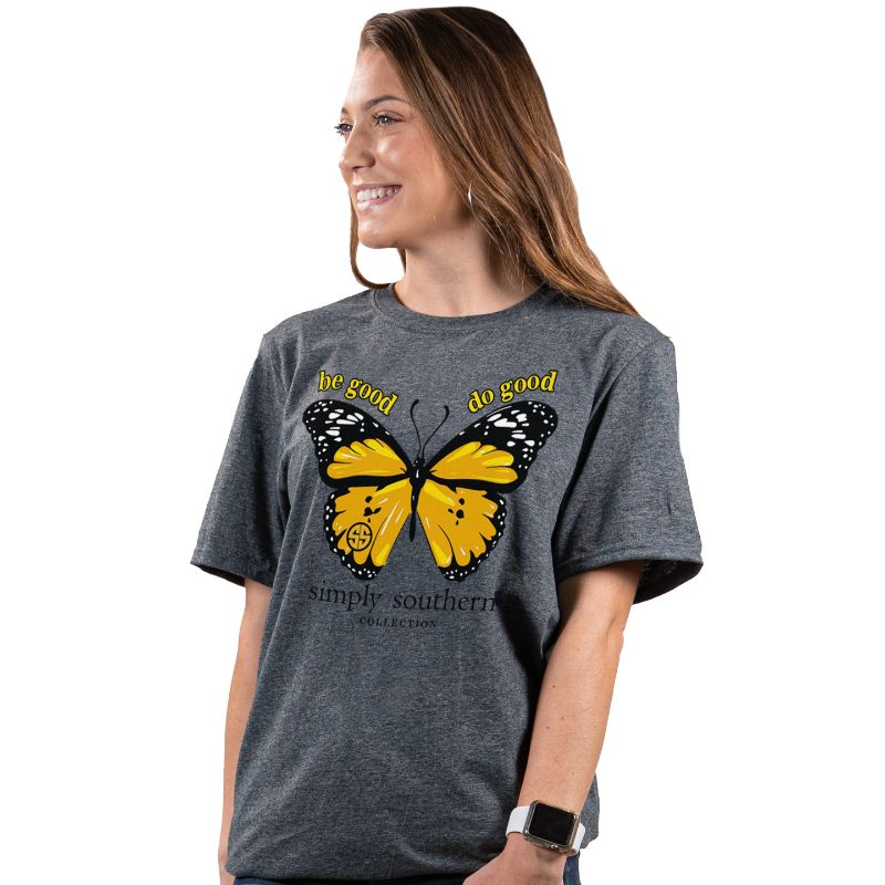 Simply Southern Preppy Be Good Butterfly T-Shirt