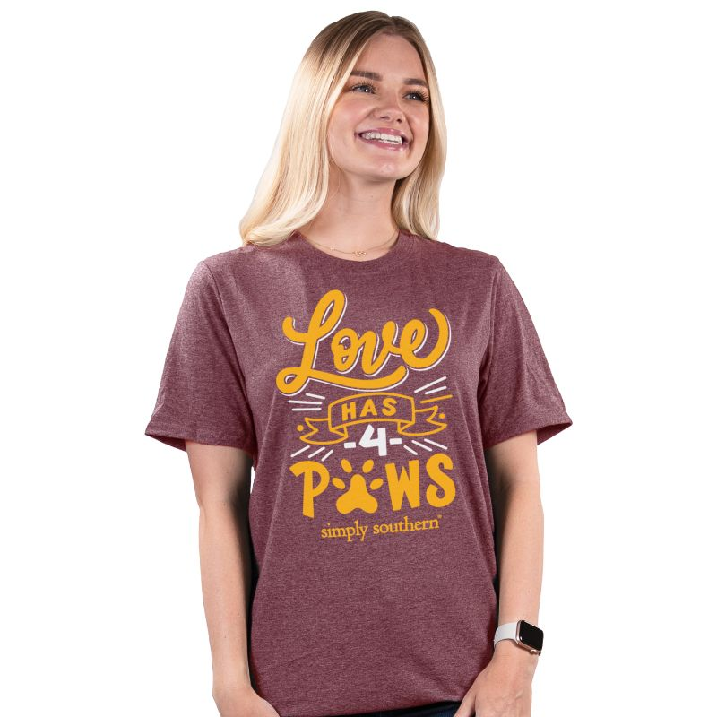 Simply Southern Vintage Collection Love Has 4 Paws T-Shirt