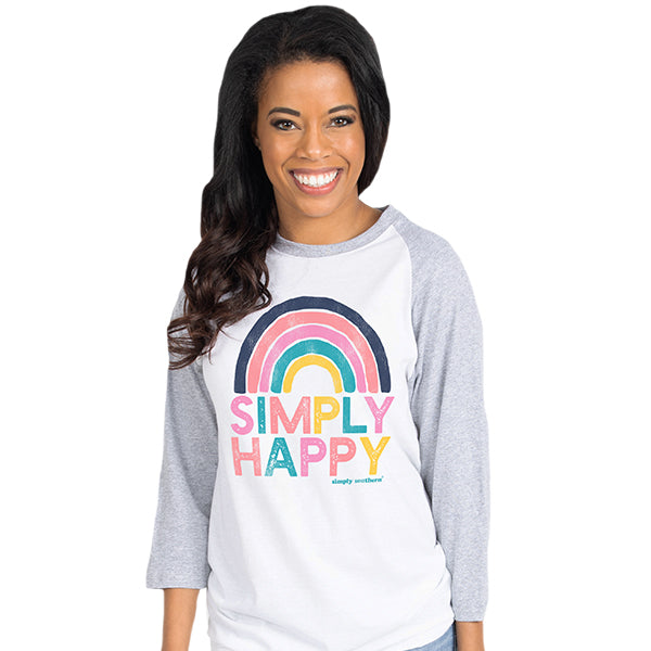 SALE Simply Southern Vintage Collection Simply Happy Long Sleeve T-Shirt