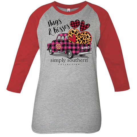 Simply Southern Hugs & Kisses Valentine's Day Truck Long Sleeve T-Shirt