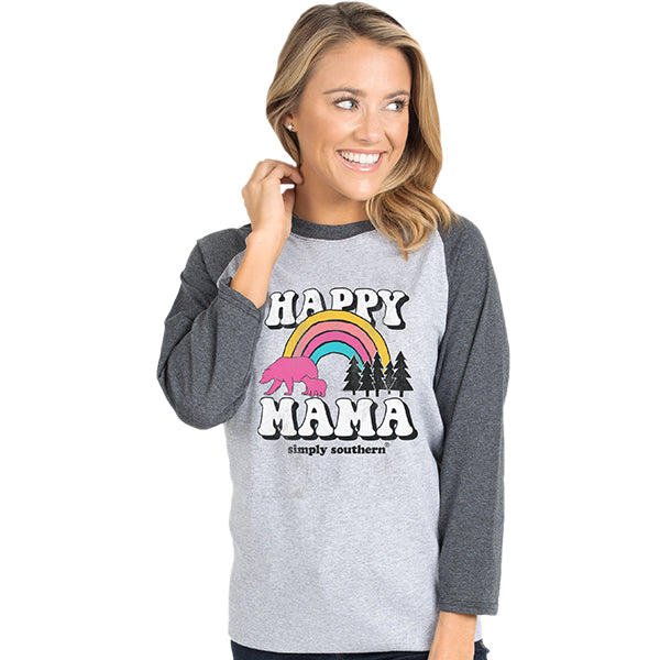 SALE Simply Southern Vintage Collection Happy Mama Bear Long Sleeve T-Shirt