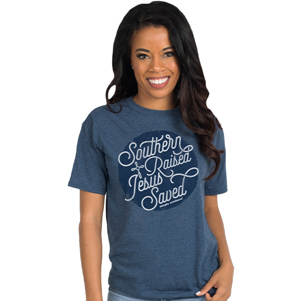 SALE Simply Southern Vintage Collection Southern Raised Jesus Saved T-Shirt
