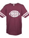 Sassy Frass Most Wonderful Time of the Year Football Season Maroon Vintage Jersey Girlie Bright T Shirt - SimplyCuteTees