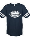Sassy Frass Most Wonderful Time of the Year Football Season Navy Vintage Jersey Girlie Bright T Shirt - SimplyCuteTees