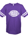 Sassy Frass Most Wonderful Time of the Year Football Season Purple Vintage Jersey Girlie Bright T Shirt - SimplyCuteTees