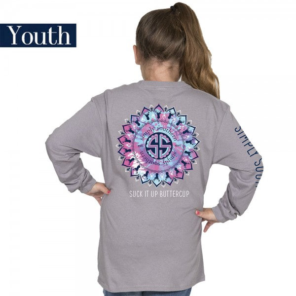Simply Southern Preppy Suck It Up Buttercup Long Sleeve T Shirt