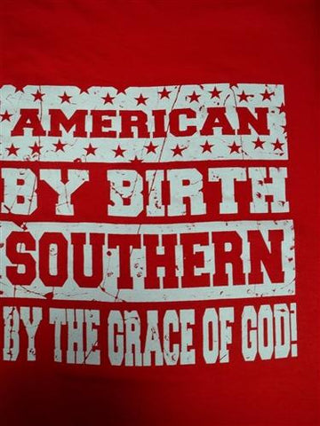 Southern Chaps Funny Backwoods American By Birth Bright T Shirt