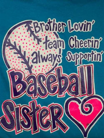 Southern Chics Funny Baseball Sister Sports Sweet Girlie Bright T Shirt
