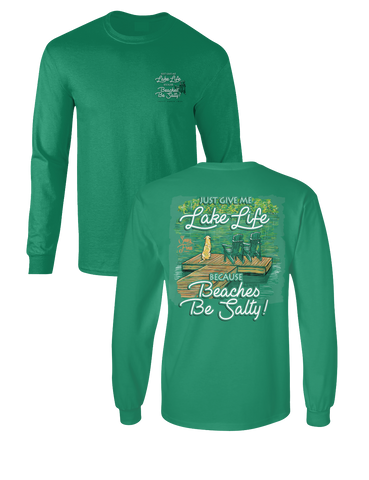 Sassy Frass Lake Life because Beaches Be Salty Comfort Colors Long Sleeves Girlie T Shirt