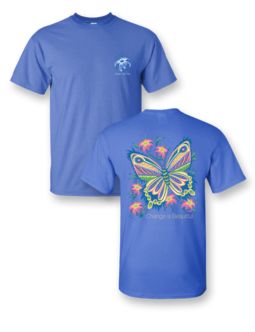 Sassy Frass Change is Beautiful Butterfly Bright Girlie T Shirt