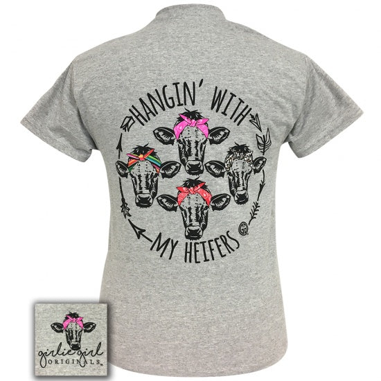 Girlie girl originals preppy my heifers cows bandana t for Simply for sports brand t shirts