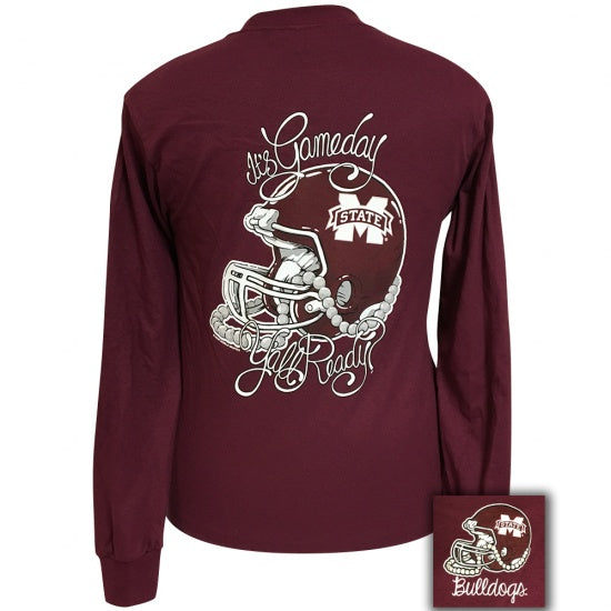 MSU Mississippi State Bulldogs Its Gameday Yall Ready Long Sleeve T-Shirt