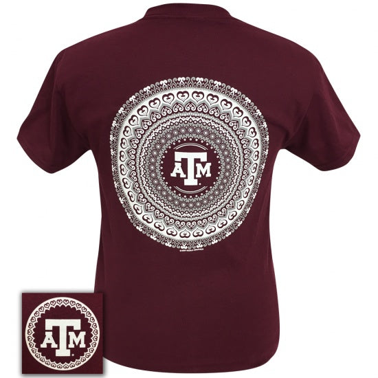 Texas A&M Preppy Mandala T-Shirt - SimplyCuteTees