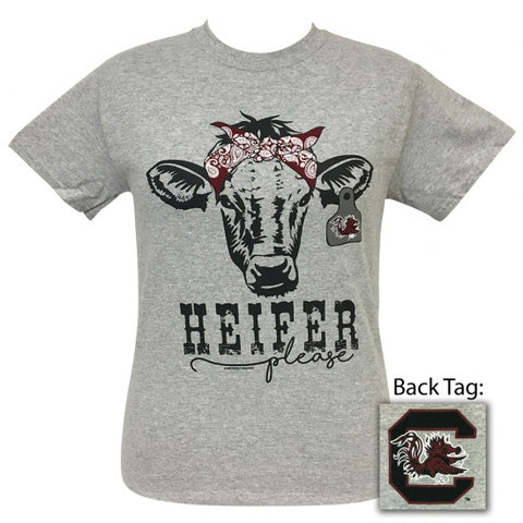 South Carolina Gamecocks Preppy Heifer Please Cow T-Shirt