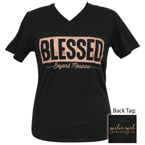 Girlie Girl Originals Preppy Blessed V-Neck T-Shirt