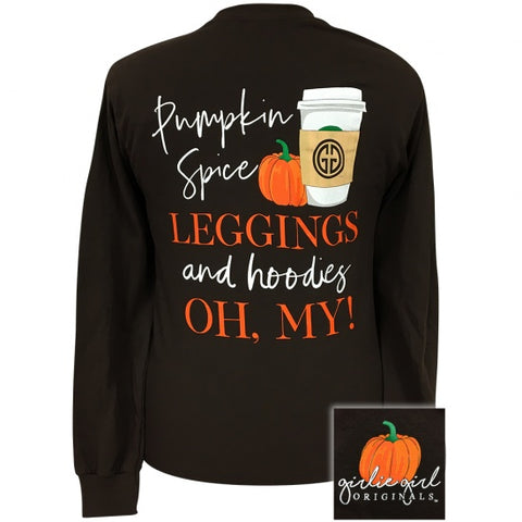 Girlie Girl Originals Preppy Pumpkin Spice & Leggings Fall Long Sleeve T-Shirt