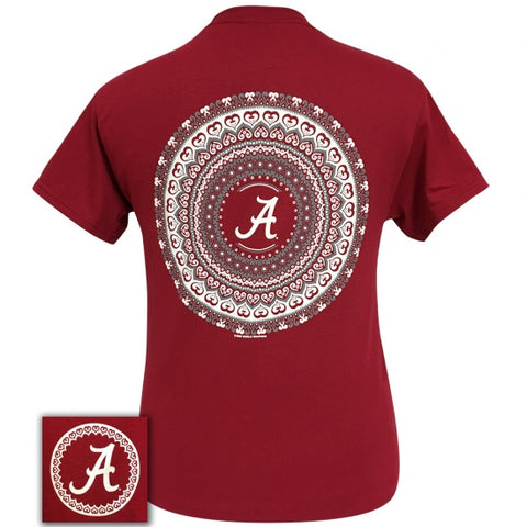 Alabama Crimson Tide Preppy Mandala T-Shirt - SimplyCuteTees