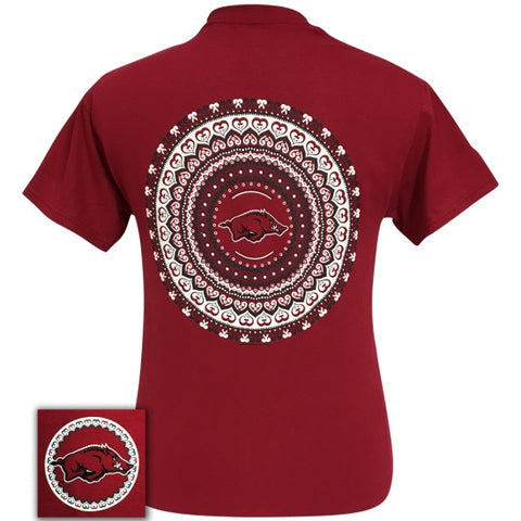 Arkansas Razorbacks Preppy Mandala T-Shirt - SimplyCuteTees