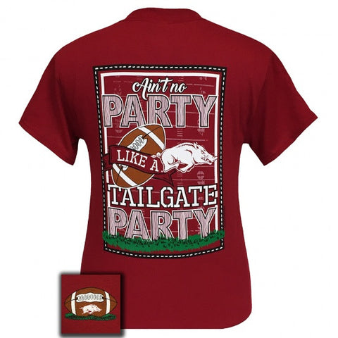 Arkansas Razorbacks Hogs Fayetteville Tailgate Party T-Shirt - SimplyCuteTees