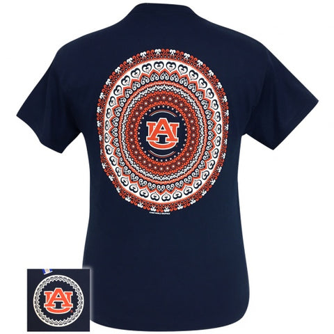 Auburn Tigers War Eagle Preppy Mandala T-Shirt - SimplyCuteTees