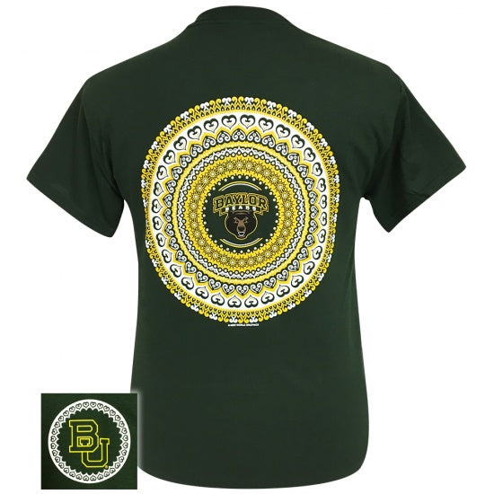 Texas Baylor Bears Preppy Mandala T-Shirt - SimplyCuteTees