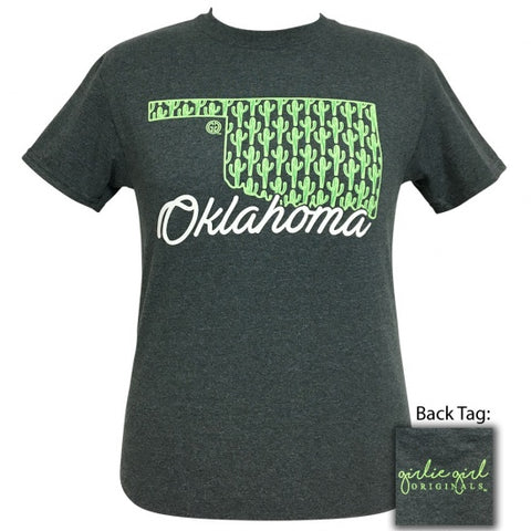 Girlie Girl Originals Oklahoma Cactus Preppy State T-Shirt