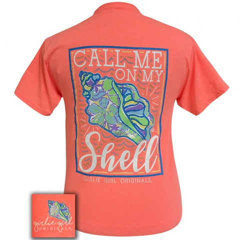 Girlie Girl Originals Preppy Call Me On My Shell T-Shirt